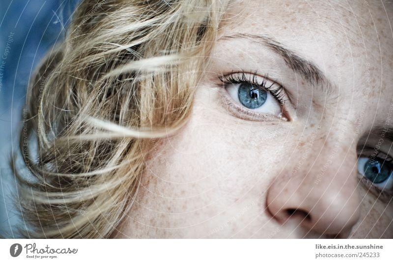 *goldmariechen schön Gesicht Wimperntusche Klettern Bergsteigen feminin Junge Frau Jugendliche Erwachsene Kopf Haare & Frisuren Nase Augenbraue blaue augen 1