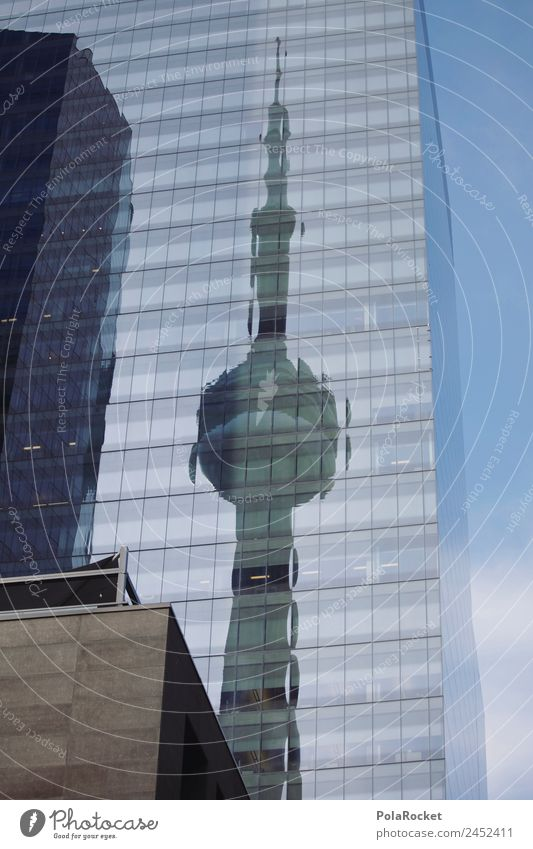 #A# Toronto Kunst ästhetisch Architektur Reflexion & Spiegelung Turm Fassade Großstadt Kanada Verglasung Farbfoto Gedeckte Farben Außenaufnahme Detailaufnahme
