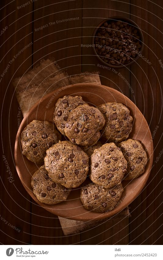 dunkel braun Süßwaren Frühstück Dessert Backwaren Schokolade Top vertikal Amerikaner rustikal Snack backen gebastelt