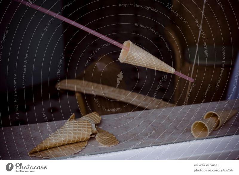 eis am stiel Fenster Dekoration & Verzierung lecker Halm Waffel Backwaren Lebensmittel Eisdiele