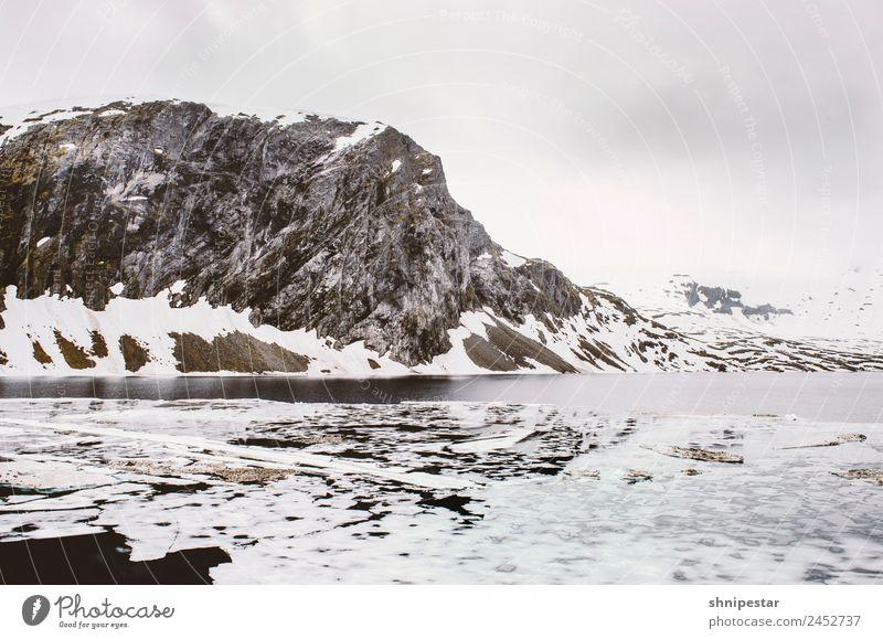 Dalsnibba, Norwegen Klettern Bergsteigen Skifahren Umwelt Natur Landschaft Urelemente Erde Wolken Klima schlechtes Wetter Eis Frost Schnee Schneefall Felsen