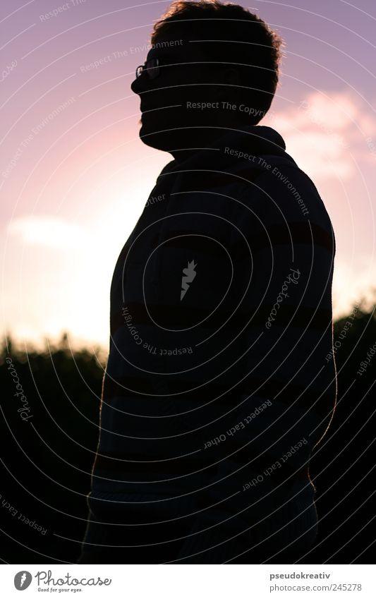 Philippe - Summer Shade harmonisch Zufriedenheit maskulin Mann Erwachsene Kopf 1 Mensch Landschaft Himmel Horizont Sonne Sonnenaufgang Sonnenuntergang