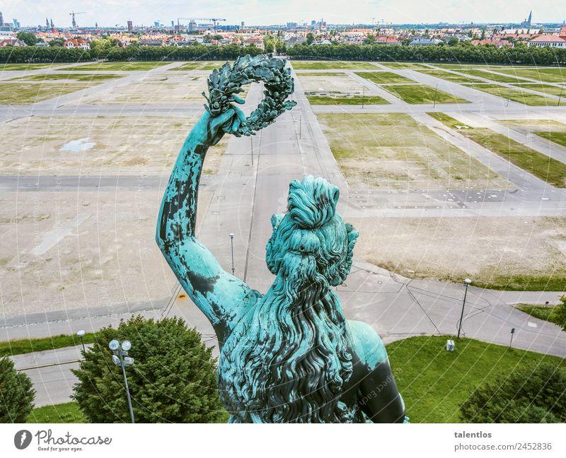 bavaria feminin Körper Haare & Frisuren Arme 1 Mensch Skulptur Statue München Deutschland Hauptstadt Stadtzentrum Menschenleer Bauwerk Sehenswürdigkeit