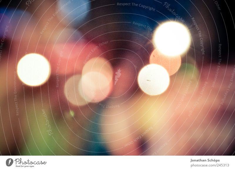 Kreislichter Lifestyle glänzend Tanzen ästhetisch Gefühle Stimmung Freude Farbe Zufriedenheit Idee Inspiration Kreativität mehrfarbig leuchten Lampe Nachtleben