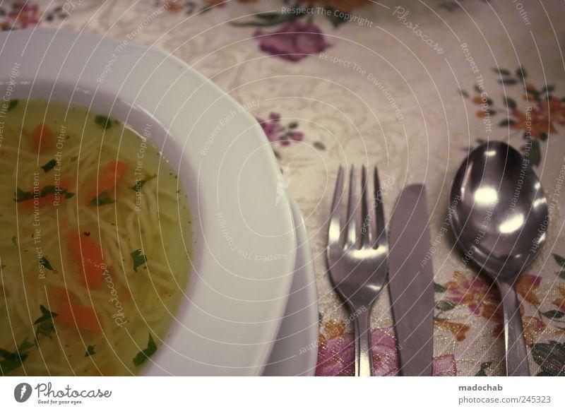 Suppe Glück Stimmung Zufriedenheit Klima Ernährung Lebensmittel authentisch Lifestyle retro Kitsch Gemüse Gastronomie Appetit & Hunger Gesellschaft (Soziologie)