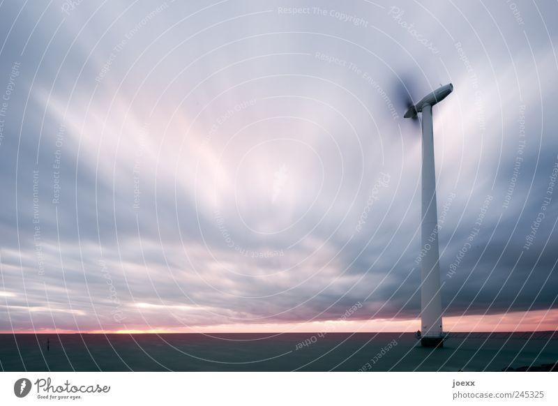 Das himmlische Kind Energiewirtschaft Erneuerbare Energie Windkraftanlage Natur Urelemente Wasser Himmel Wolken Horizont Sonnenaufgang Sonnenuntergang Klima