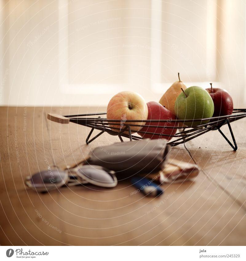 küchentisch Lebensmittel Frucht Apfel Birne Schalen & Schüsseln Häusliches Leben Wohnung Dekoration & Verzierung Tisch Brille Sonnenbrille Portemonnaie