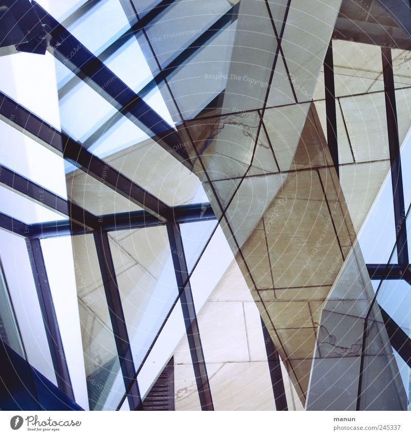 verglast Bauwerk Gebäude Mauer Wand Treppe Fenster Staatsgalerie Stein Glas Stahl Linie außergewöhnlich modern verrückt bizarr Design Kunst skurril Surrealismus