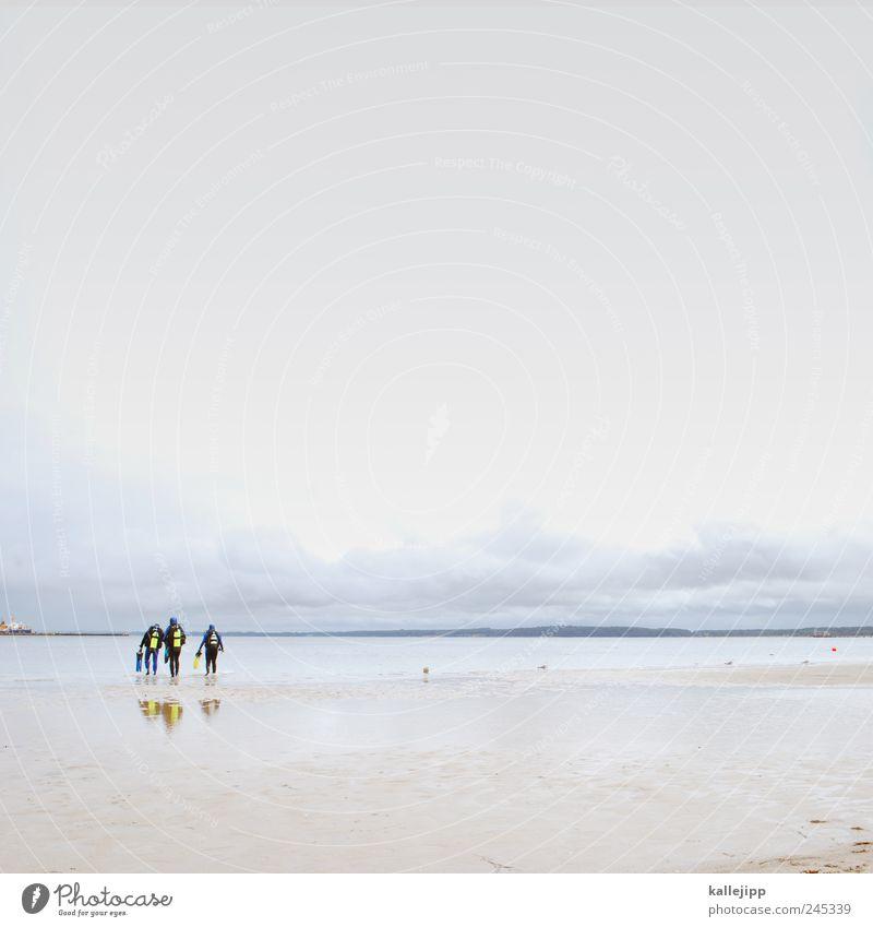 die tauch-gang Mensch Himmel Natur Mann Wasser Ferien & Urlaub & Reisen Sommer Meer Strand Erwachsene Ferne Umwelt Freiheit Küste Sand Schwimmen & Baden