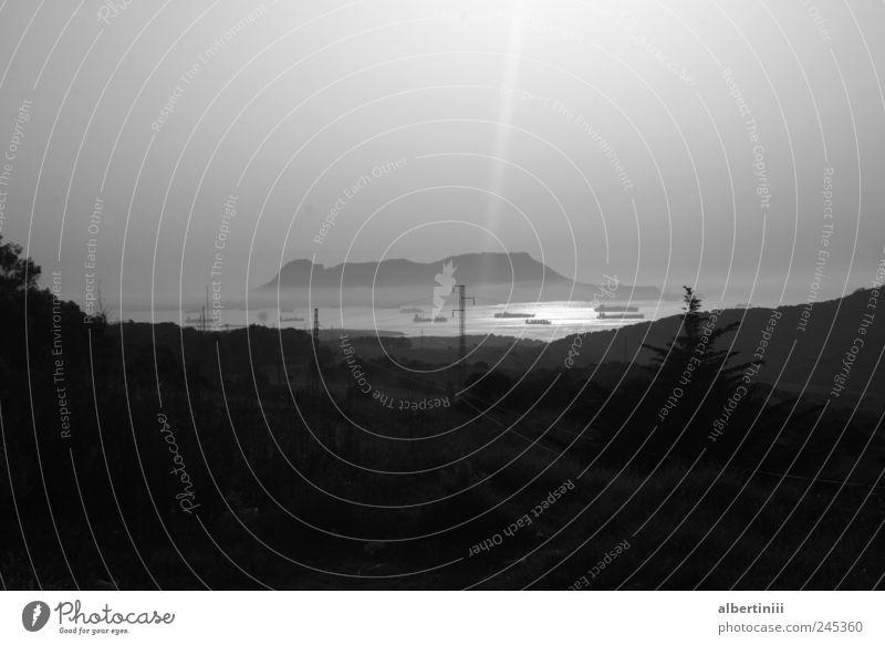 die straße von gibraltar Wasser Straße Umwelt Wasserfahrzeug fahren Schifffahrt Morgendämmerung Öltanker Containerschiff