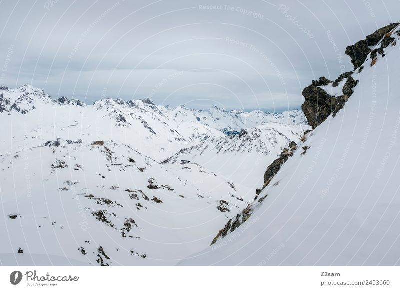 Arlberg | Tirol | Österreich Umwelt Natur Landschaft Winter Schnee Alpen Berge u. Gebirge Schneebedeckte Gipfel ästhetisch frisch gigantisch kalt nachhaltig