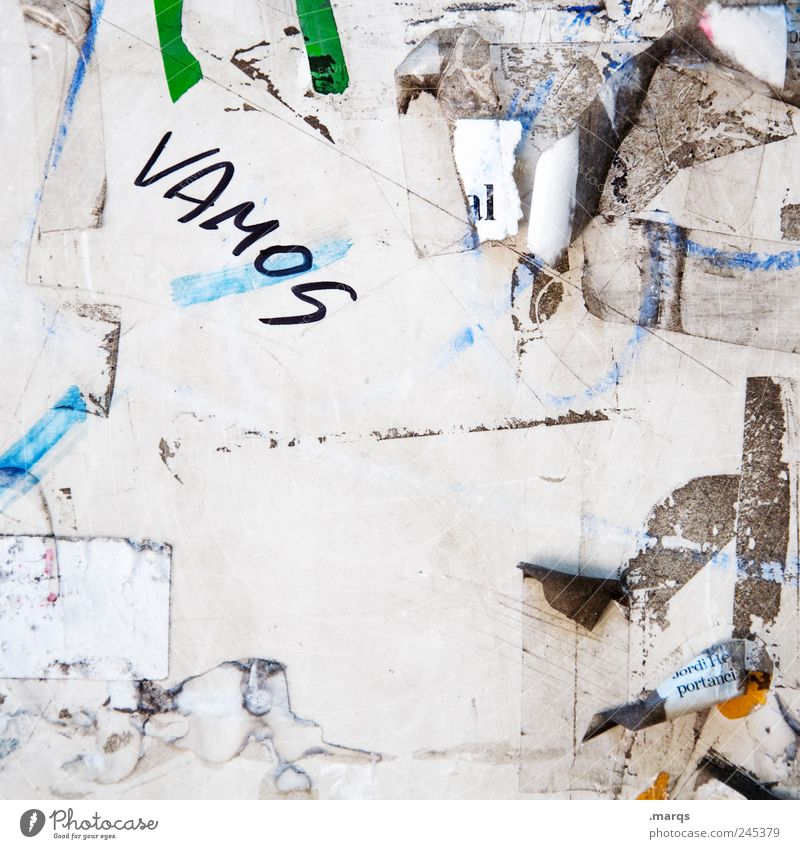 ¡Vamos! dreckig Beginn Papier Schriftzeichen Coolness Wandel & Veränderung einzigartig Kommunizieren außergewöhnlich Zeichen Kreativität Beratung Mut Zettel