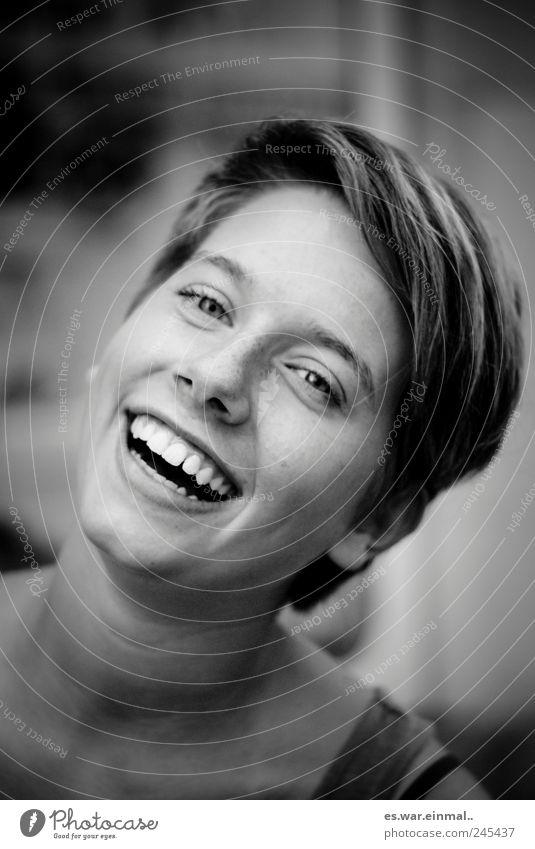 da. feminin Lippen Zähne 1 Mensch lachen authentisch außergewöhnlich schön Freude Glück Fröhlichkeit Begeisterung Euphorie Optimismus Kraft Warmherzigkeit
