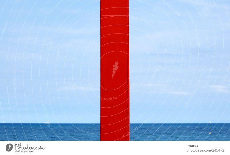 Rotes Meer Natur Wasser blau schön rot Sommer Ferien & Urlaub & Reisen ruhig Ferne Farbe Erholung Freizeit & Hobby Schwimmen & Baden Frieden rein