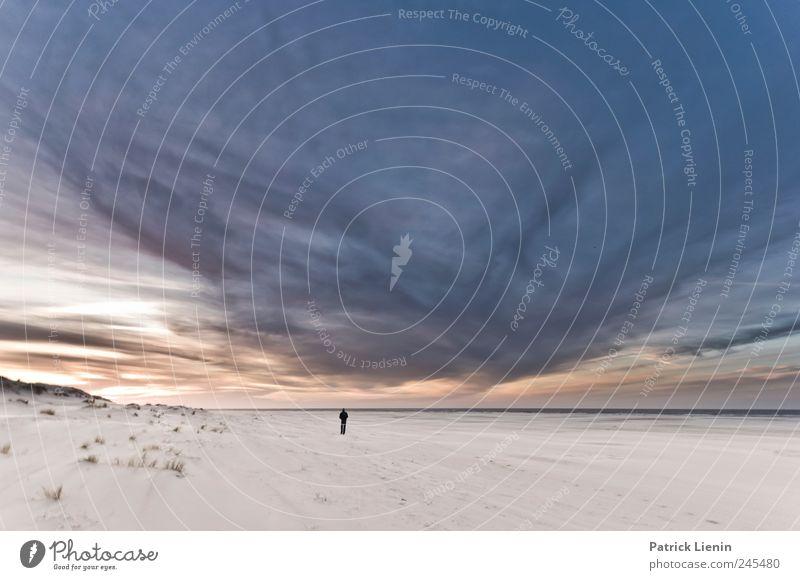 Spiekeroog | I will follow you Himmel Natur Strand Ferien & Urlaub & Reisen Meer Wolken Ferne Freiheit Landschaft Sand Umwelt Stimmung Küste Wetter Wind Ausflug