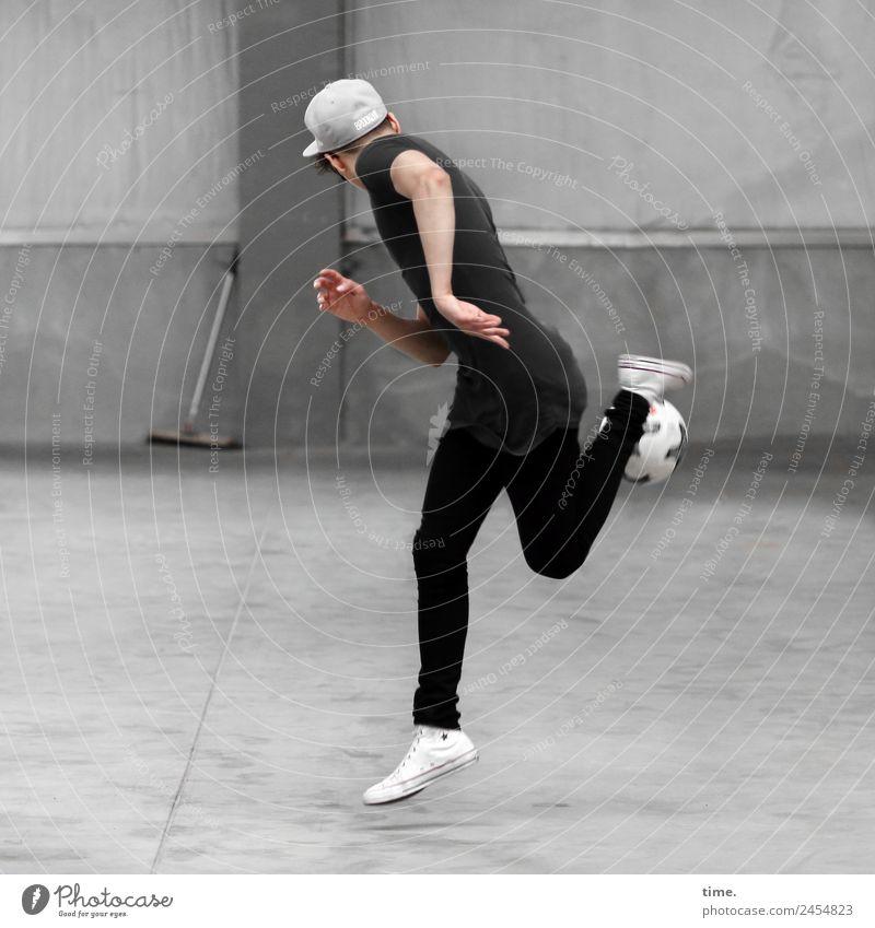 Sergej Mensch Mann Freude Erwachsene Leben Wand Sport Bewegung Kunst Spielen Mauer fliegen maskulin Kommunizieren Kraft Kreativität