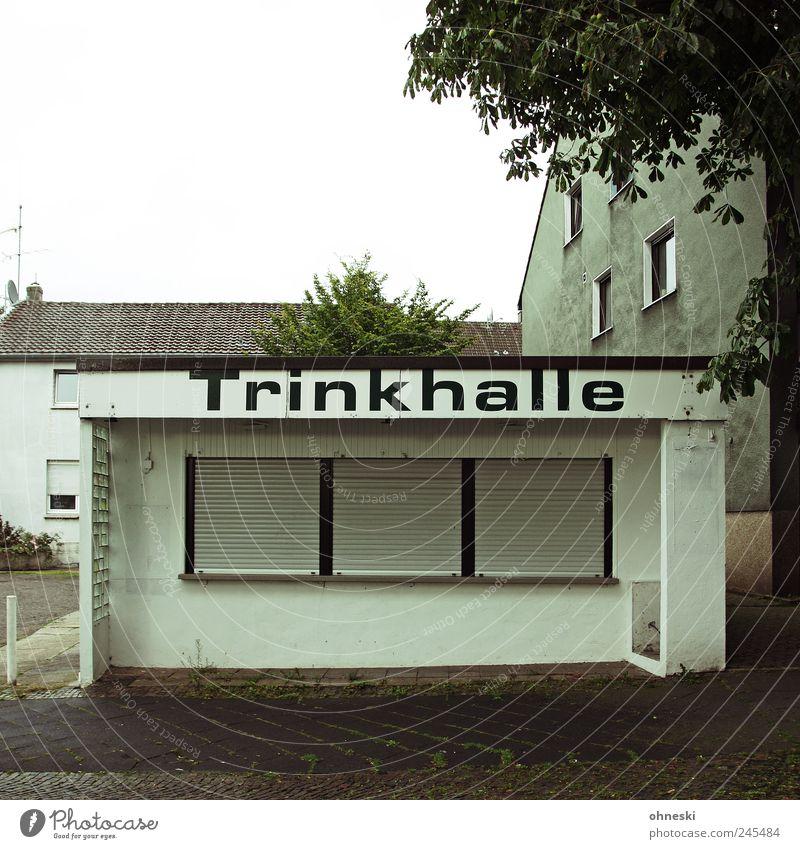 666 - Leider geschlossen Stadt Haus Fenster Gebäude geschlossen trinken Bauwerk Alkohol Ruhrgebiet Buden u. Stände Außenaufnahme Kiosk Jalousie Spirituosen Ladengeschäft