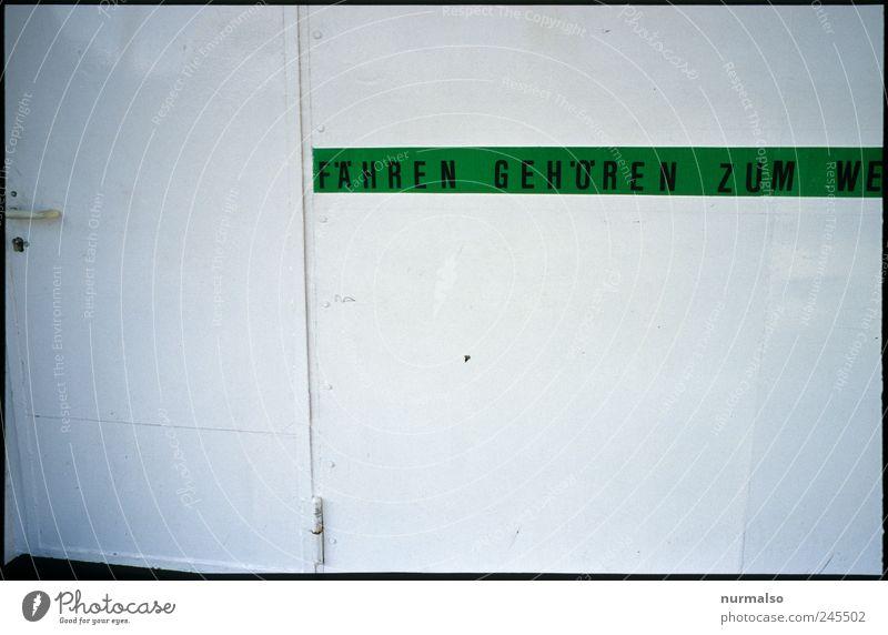 WE . . . ? Freizeit & Hobby Kunst Verkehr Verkehrsmittel Schifffahrt Fähre An Bord Zeichen Schriftzeichen Schilder & Markierungen Hinweisschild Warnschild klug
