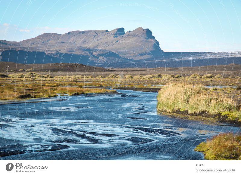 Zulauf Himmel Natur Wasser blau Ferien & Urlaub & Reisen ruhig Haus Wiese Berge u. Gebirge Landschaft Umwelt See Horizont groß Fluss wild