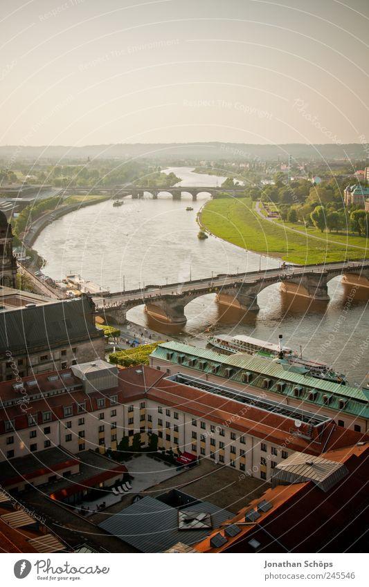 gleicher Schwung wie beim Bild vorher Stadt Sommer Haus Erholung Landschaft Deutschland Zufriedenheit Brücke Europa Fröhlichkeit Tourismus ästhetisch Fluss