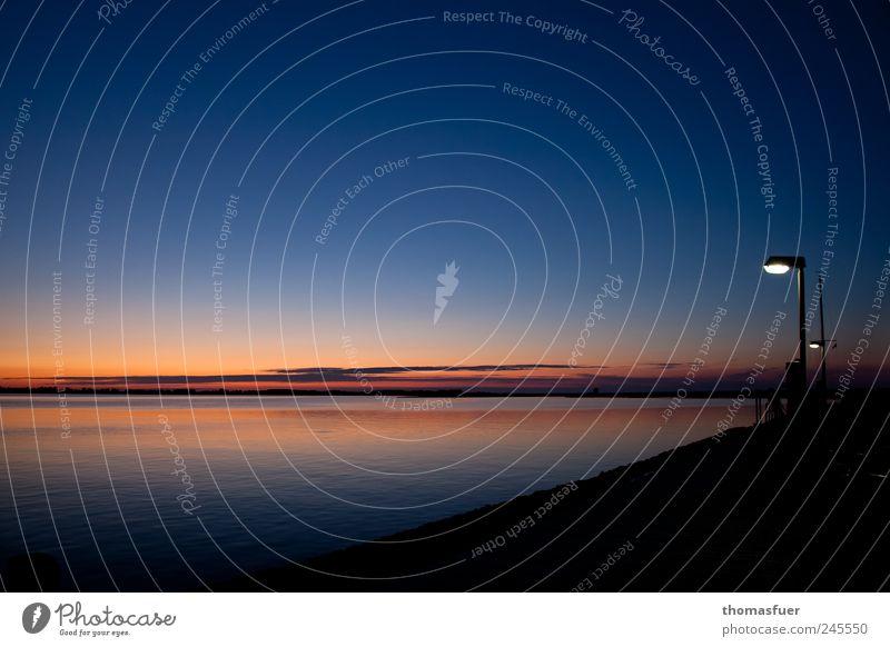 Stille Himmel Natur Wasser blau schön rot Sommer Ferien & Urlaub & Reisen Meer ruhig Ferne Freiheit Landschaft Stimmung Luft Küste