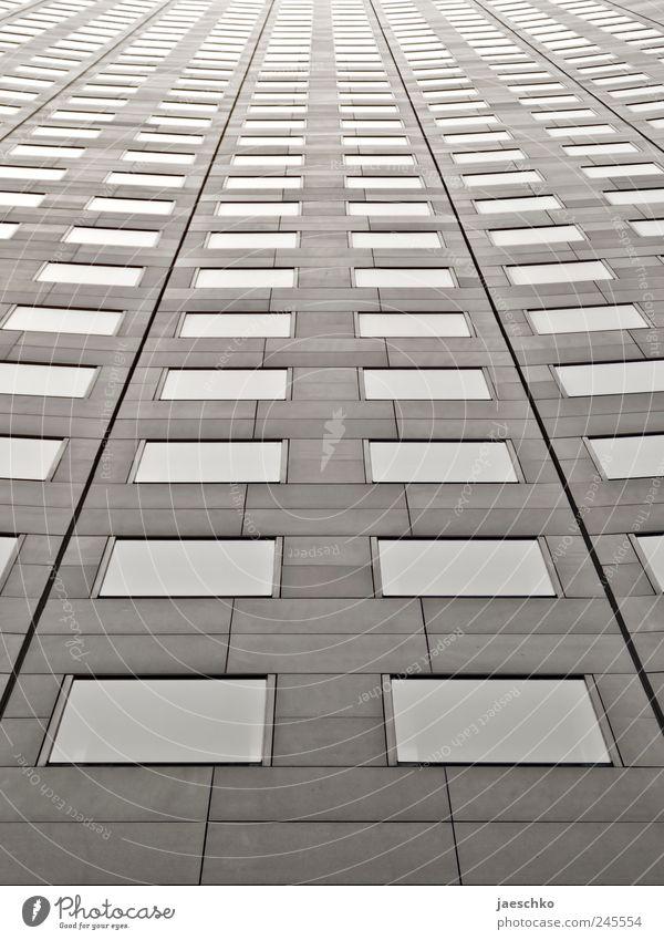 Spaceship MDR Leipzig überbevölkert Hochhaus Bankgebäude Bauwerk Gebäude Fassade Fenster Arbeit & Erwerbstätigkeit bedrohlich gigantisch hoch kalt trist Stadt