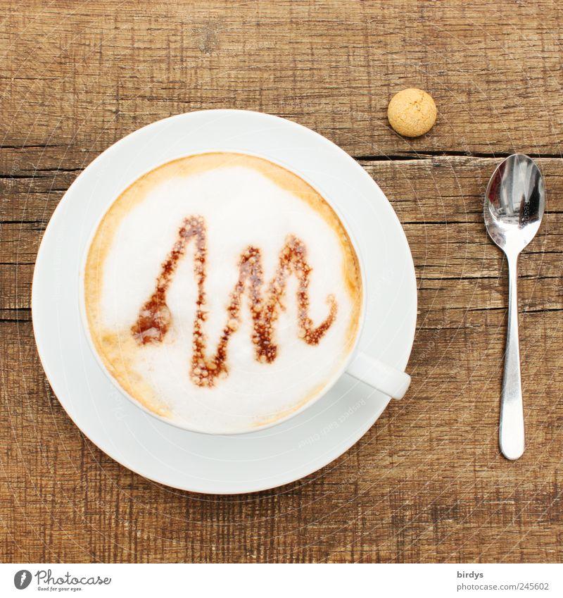 Cappuccino mit Nahrungsergänzungspille schön Erholung klein Stil braun natürlich Linie ästhetisch Foodfotografie genießen Kaffee trinken Tasse Duft Erwartung