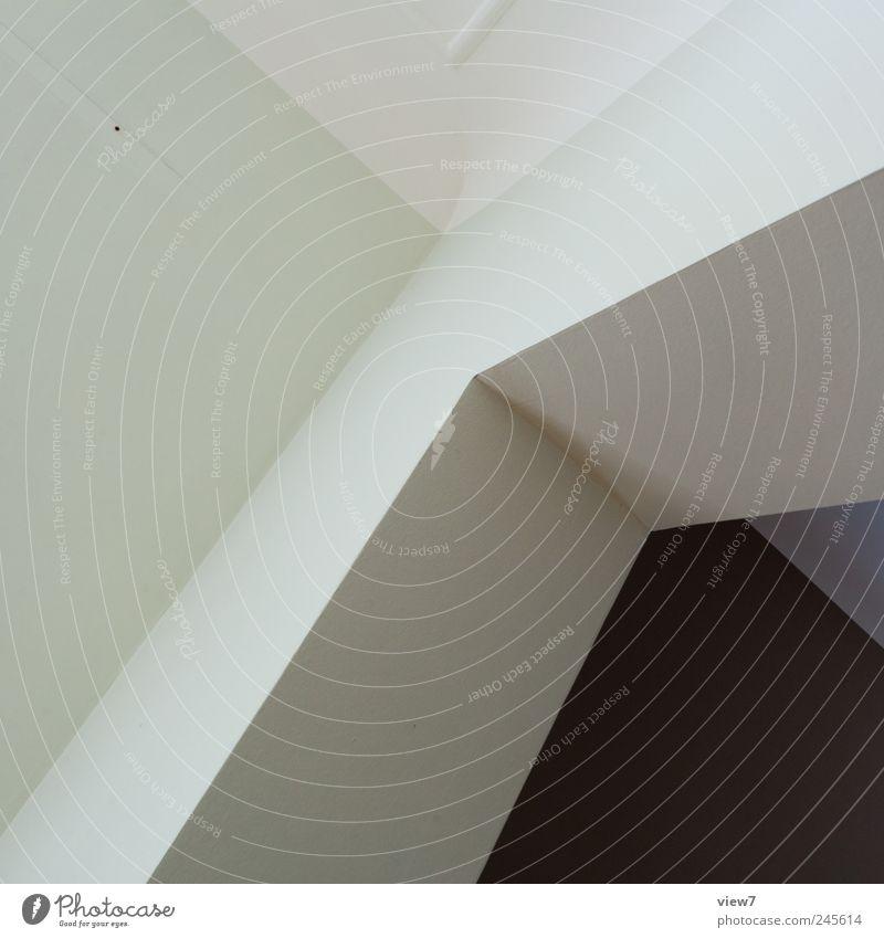 90 Grad grün Ferne Wand oben Mauer Stein Linie Raum elegant Beton Ordnung Beginn frisch ästhetisch authentisch Streifen