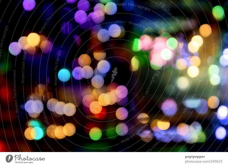 rush hour Kugel glänzend hell Kitsch rund mehrfarbig Licht Lichterscheinung Lichtspiel Lichtpunkt Außenaufnahme Experiment Muster Menschenleer