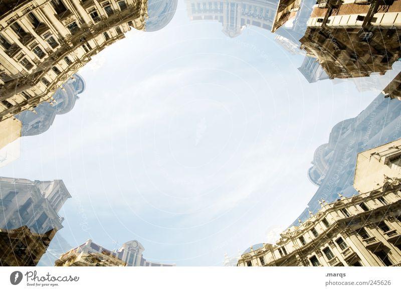 District Ferien & Urlaub & Reisen Städtereise Madrid Wolkenloser Himmel Stadtzentrum Haus Gebäude Architektur Fassade alt außergewöhnlich Coolness hell trendy