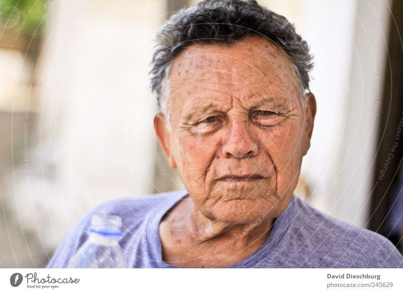 Dimitri Mensch Mann alt Erwachsene Gesicht Leben Senior Haare & Frisuren Kopf Haut einzeln Hautfalten 60 und älter Männlicher Senior ernst grimmig
