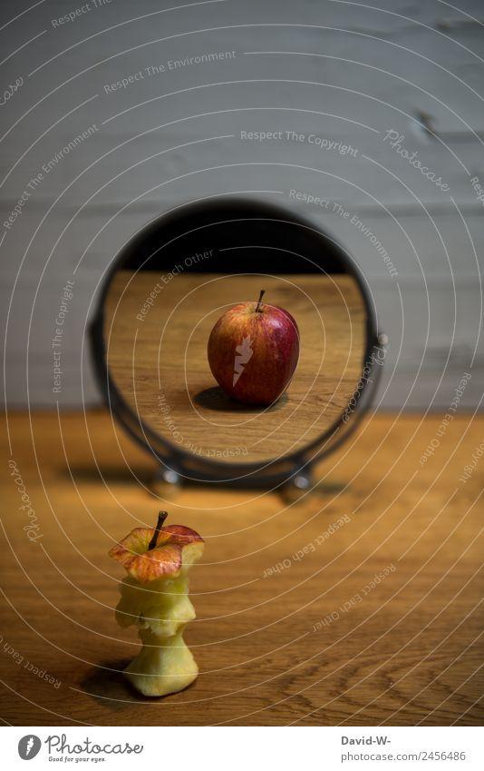 Spieglein Spieglein... Lebensmittel Frucht Apfel Ernährung Essen Bioprodukte Vegetarische Ernährung Diät elegant Stil Design exotisch sparen Gesundheit