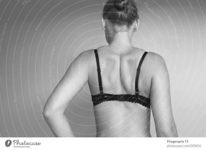 Muskelspiel Frau Mensch schön ruhig feminin Erotik Haare & Frisuren Erwachsene Körper Zufriedenheit Haut Rücken elegant natürlich stehen Warmherzigkeit