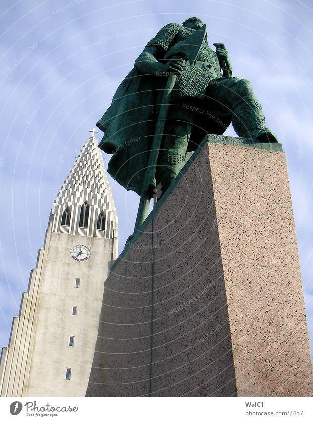 Reykjavik Religion & Glaube Europa Statue Denkmal Island Axt Reykjavík Wikinger