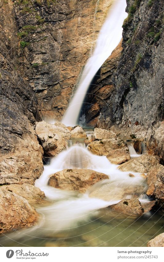 fließend Natur Wasser Felsen Berge u. Gebirge Schlucht Bach Fluss Wasserfall Quelle Pöllatschlucht Allgäu Schwimmen & Baden Erholung Flußmündung Farbfoto