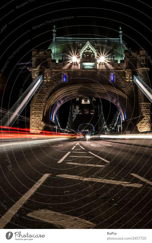 Tower Bridge Ferien & Urlaub & Reisen Sightseeing Städtereise Bildungsreise Güterverkehr & Logistik Architektur Nachthimmel London England Großbritannien Europa