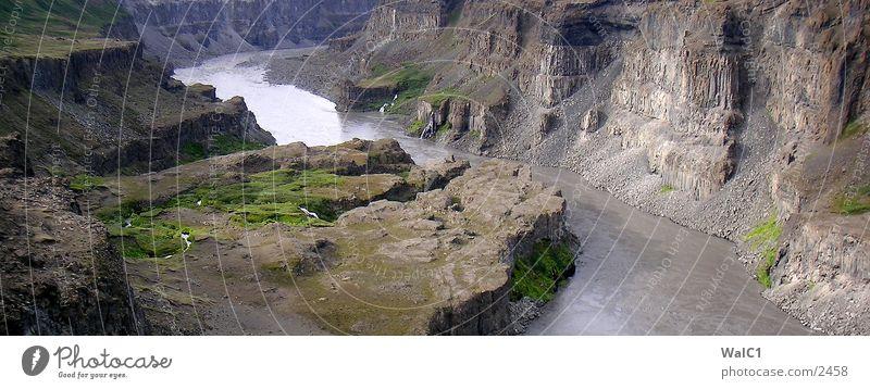 Wasser en masse 04 Natur Kraft Europa Energiewirtschaft Island Wasserfall Schlucht Umweltschutz Nationalpark unberührt