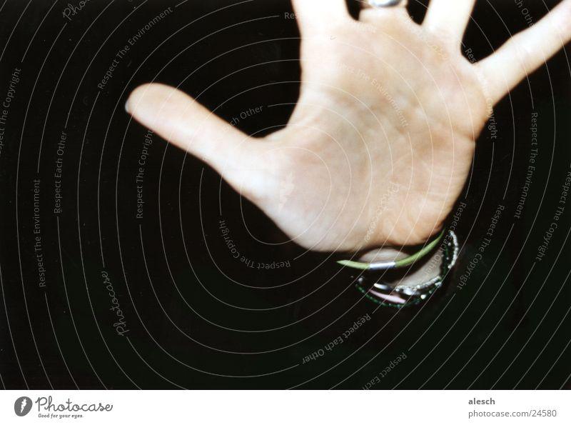 Don't move! Hand stoppen Handfläche Halt Finger