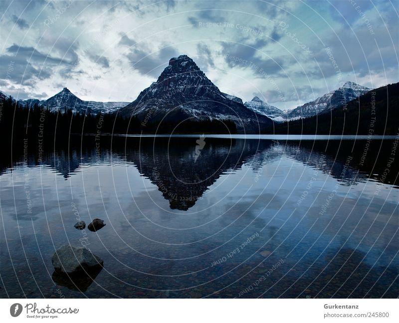 Ratiopharm Umwelt Natur Landschaft Urelemente Wasser Stimmung ruhig Montana Glacier Nationalpark Two Medicine Lake See Reflexion & Spiegelung Idylle Einsamkeit