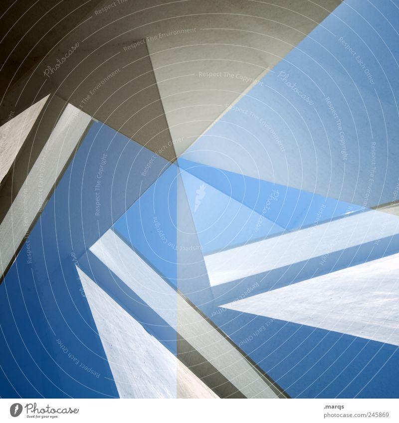 Turbine blau Stil Architektur hell Fassade Design verrückt Lifestyle Perspektive modern Coolness Zukunft einzigartig außergewöhnlich Zeichen Bauwerk