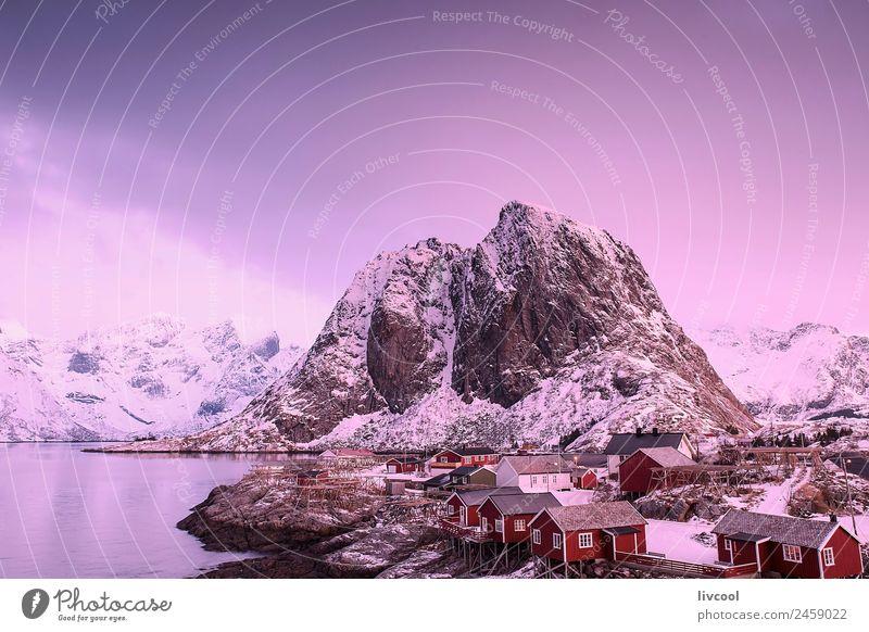 Natur Ferien & Urlaub & Reisen Landschaft Baum Meer Erholung Haus ruhig Winter Berge u. Gebirge Küste Schnee Felsen Schneefall Aussicht Insel