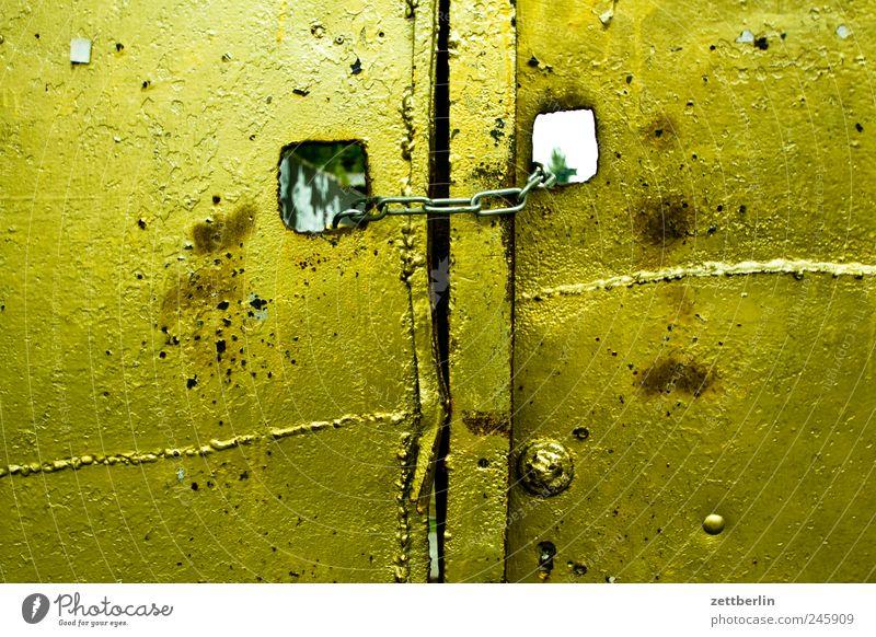 Gold Metall Stadtleben glänzend Dekoration & Verzierung Kreis geschlossen Schmuck Tor Eingang Kette Gitter Hinterhof edel Strebe Zugang