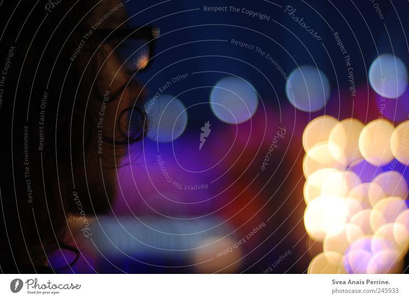 konzert. Mensch Erwachsene Haare & Frisuren Denken maskulin außergewöhnlich Coolness leuchten Brille 18-30 Jahre Konzert Locken Festspiele langhaarig