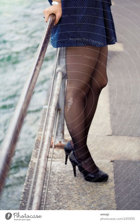 legs Mensch Jugendliche feminin Erwachsene Beine Schuhe stehen Körperhaltung Kleid 18-30 Jahre Strümpfe Strumpfhose Junge Frau Damenschuhe Bekleidung
