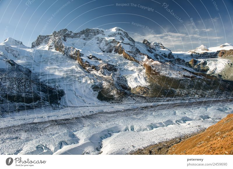 Breithorn mountain peak, view from Gornergrat Winter Schnee wandern Natur weiß alpin alps Glacier Nationalpark landscape panorama panoramic pennine scenery