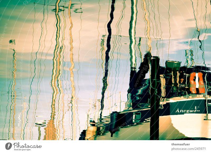 Dänemark als Kramenäd Wasser Meer Sommer ruhig Küste träumen Wellen glänzend Seil Romantik Kunststoff Hafen Schönes Wetter Ostsee Flüssigkeit Segeln
