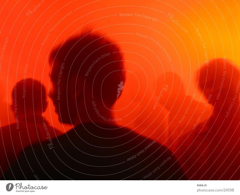 Nightlife Mensch rot Freude schwarz Feste & Feiern Party Stimmung orange Tanzen Club Disco Diskjockey Lightshow Nachtleben Techno ausgehen