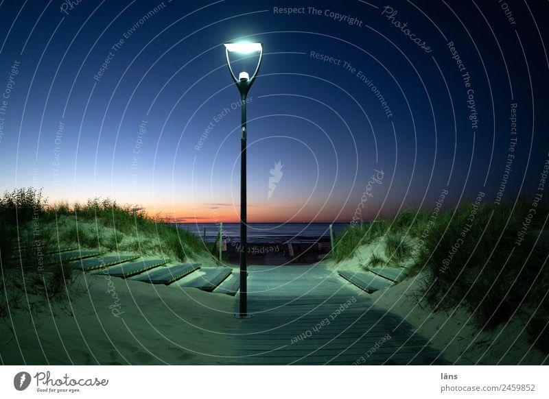 Abendstimmung Ferien & Urlaub & Reisen Tourismus Ausflug Sommer Sommerurlaub Strand Meer Himmel Sonnenaufgang Sonnenuntergang Küste Beginn Zufriedenheit