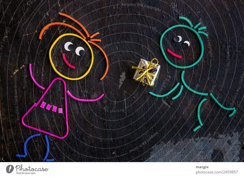 Gummiwürmer: Geschenk Frau Mensch Mann schwarz Erwachsene feminin maskulin