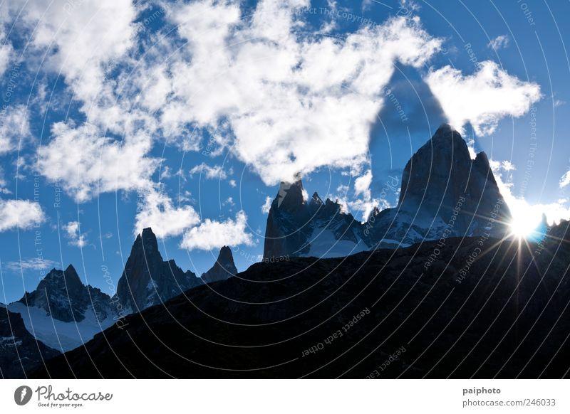 Himmel blau schön Sonne Sommer Wolken Winter Erholung kalt Schnee Berge u. Gebirge Landschaft Erde Park Eis Horizont